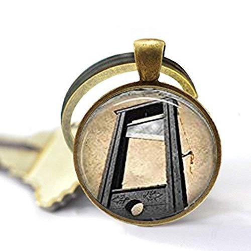 lanhänger Französische Revolution Gruseln Halloween Schlüsselanhänger Schlüsselanhänger in Bronze oder Silber ()