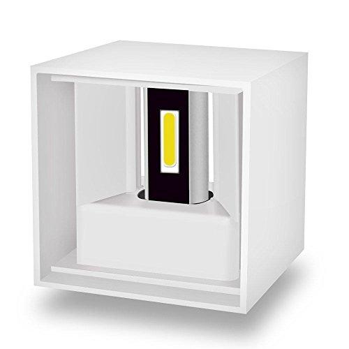 Splink Modern LED Wandleuchte Wandlampe 12W Innenleuchte Außenwandleuchte Wasserdicht IP65 Abstrahlwinkel UP DOWN Gartenlampen 3000K Warmweiß
