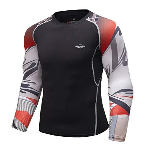 Deep V-neck Knit Top (Herren Funktionsunterwäsche Langarm Shirt Fitness Sweat Atmungsaktiv Sport Enges Langarmshirt Sport weiche T-Shirt Top von Btruely)