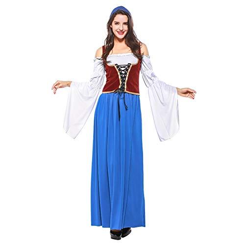 Mädchen Deutsche Das Kostüm Bier - Shiningbaby Oktoberfest Frauen Kleid Halloween Cosplay Kostüme Erwachsene Dame Mädchen Bayerischen Deutschen Bier Mädchen Maid Karneval Arbeitskleidung