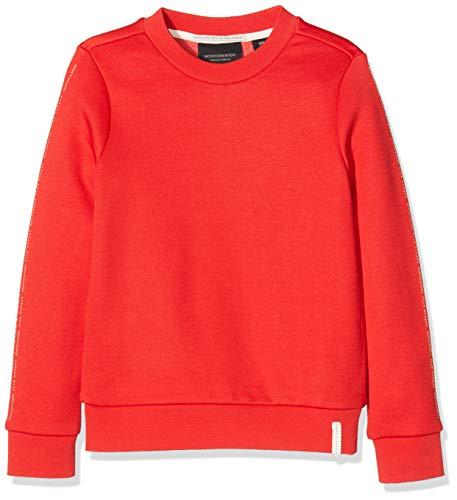 Scotch & Soda Mädchen Club Nomade Crew Neck Sweat with Chest Prints Sweatshirt, Rot (Tomato 1279), 176 (Herstellergröße: 16)