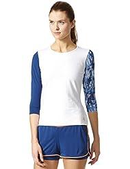 adidas Essex Camiseta de tenis para mujer, xx-small