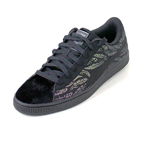 Puma Basket Swan Damen Sneaker Schwarz Schwarz (Puma Black-Puma Black)