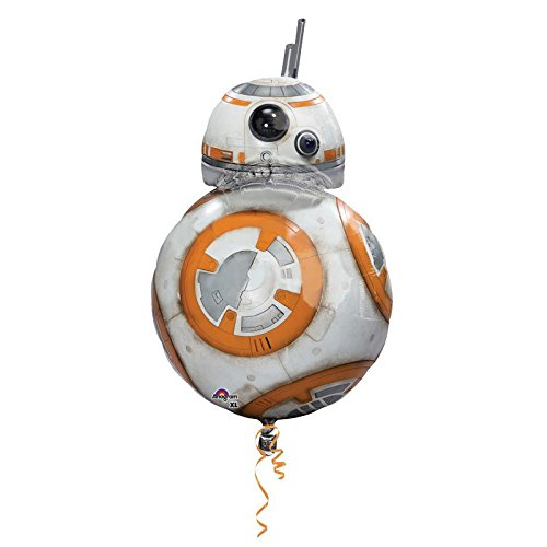 amscan Anagram 3162101 - Folienballon Super Shape, Disney Star Wars Episode VII, BB8, 50 x 83 cm