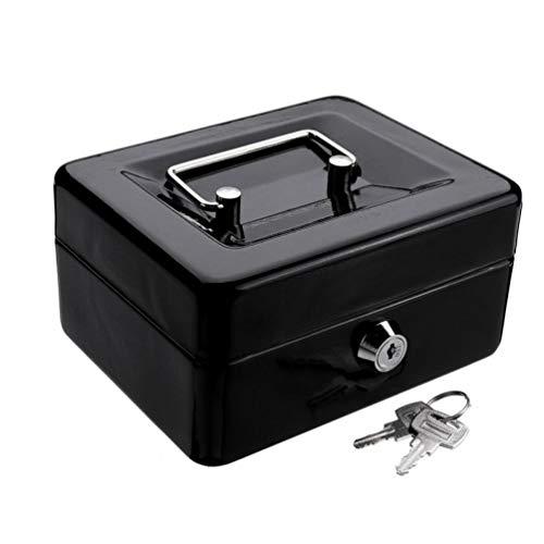 Mini Negro metálico Acero Inoxidable Hucha Caja Fuerte