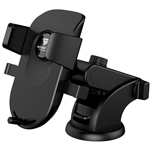 Power Theory Handyhalter fürs Auto - Armaturenbrett & Windscheibe Handyhalterung für iPhone X 8 7 Plus 6s 6 SE 5s 5 Samsung Galaxy S9 S8 S7 Edge S6 KFZ Halterung Smartphone Handy Halter Autohalterung