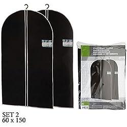 ASIS nettrade Kleidersäcke Kleiderschutzhüllen - 10 Stück - 150 cm lang x 60 cm breit - Farbe: schwarz