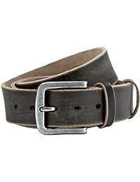 "Jeans belt black, used look, unisex, width: 1.5"", Buckle: 1.97 x 2.2"""