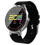 JJSSGGJJSSHH Sport Armband L8 Smart Armband Pulsmesser IP68 Sport Fitness Armband Tracker Blutdruck Smartband für Android IOS, Schwarz Silber