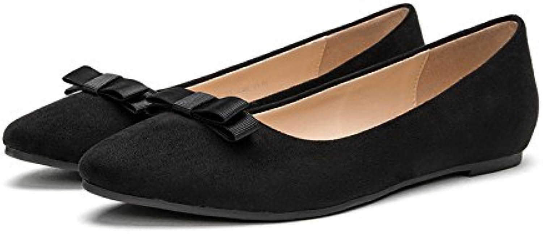 DHG Sandali donna primaverili, scarpe piatte da donna, single alti a punta,Nero,36 | Prima il cliente  | Gentiluomo/Signora Scarpa