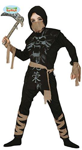 Geister Ninja Kämpfer Kostüm für Kinder Gr. 98-146, ()