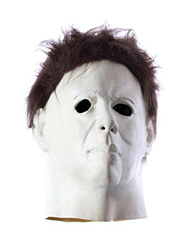 Michael Myers Maske Vollkopfmaske mit Haaren (Rob Zombies Halloween Michael Myers Kostüm)