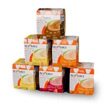 Resource® 2.0 Fibre - Trinknahrung - Mischkarton - hochkalorisch 2 kcal/ml - ballaststoffreich - 5 Geschmacksrichtungen - 24 Flaschen - 1 Karton (Fett Lösliche Ballaststoffe)