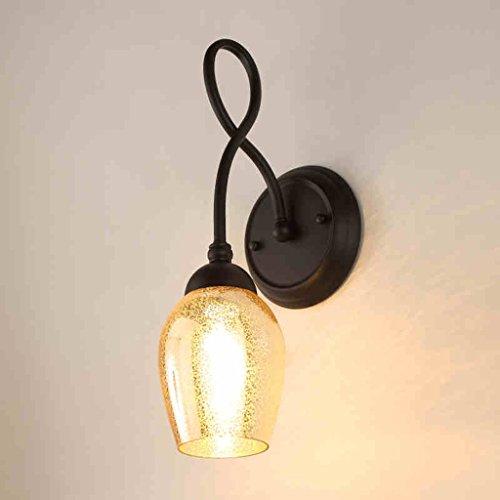 JSJ - American Wall Lamps Salon TV Fond Murs Double tête Verre Chambre à coucher Lampes de chevet Creative Design Escaliers Luminaires d'allée