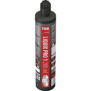 Tox Verbundmörtel, Liquix Pro 1 styrolfrei, 1 Kartusche, 280 ml, inkl. 2 Statikmischer,  084100081