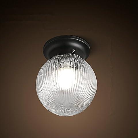 N.DFB Villaggio americano impermeabile vetro orbs minimalista di luce a soffitto che fa aderire il corridoio piccolo balcone esterno luce a soffitto,3WLEDLa sfera rendendo Wong Kwong