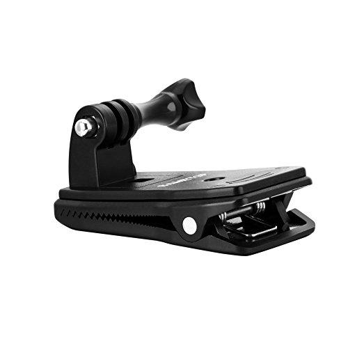 Sametop 360 Grad Drehbare Rucksack Halterung Clip Halter Halterungrucksack für GoPro Hero 6, 5, 4, Session, 3+, 3, 2, 1 Kameras (Gopro Hero 3 Halterungen)