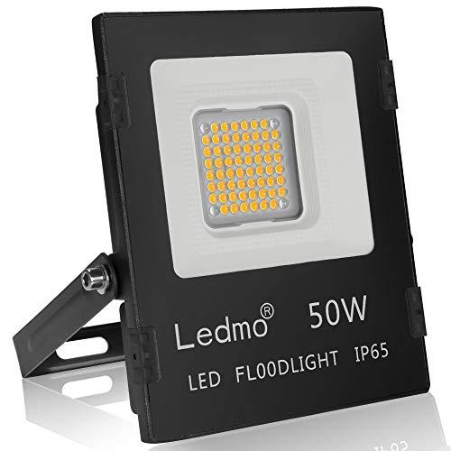 Faretto led esterno 50w 2700K bianco caldo faro led ip65 SMD3030 4500LM LEDMO farettI led esterno per giardino AC85~265V