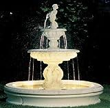 Brunnen aus Betonwerkstein inkl. Pumpe und Zubehör Säulenbrunnen Steinbrunnen Kaskadenbrunnen
