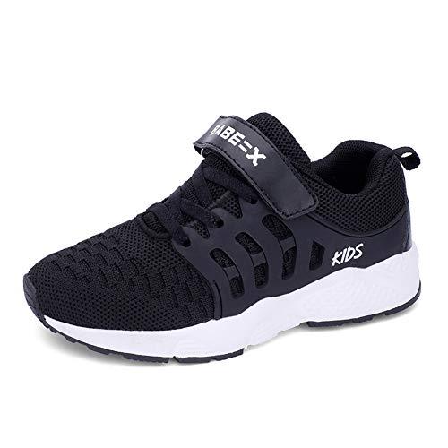 Formatori Ragazzi Ttraspirante Stradali Running Shoes Bambini Unisex  Ragazze Leggero Sneakers EU 35 Nero 38d24fc7aed