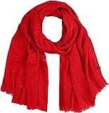 Marc O'Polo Damen Schal 808809302211, Rot (Lipstick Red 344), One Size (Herstellergröße: OSO)