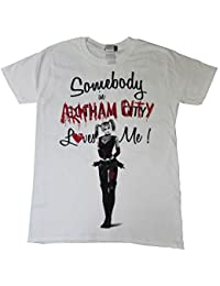 Harley Quinn Somebody In Arkham City Loves Me OFFICIAL DC Comics Suicide Squad Batman Joker Unisex T-Shirt Up To XXL -