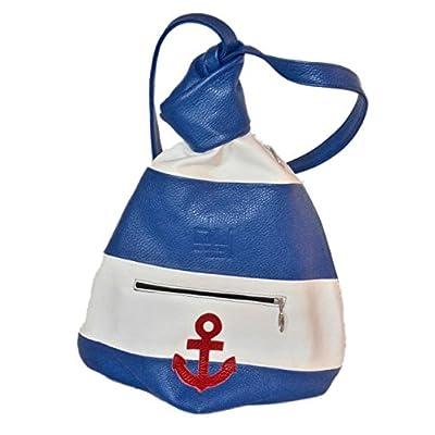Hands-free Handbag Navy - handmade-bags