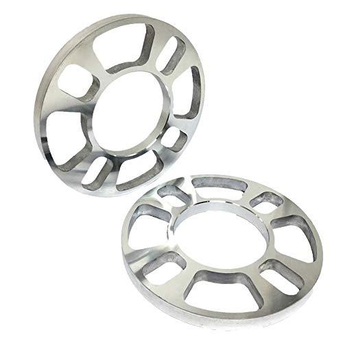 turkeybaby Spurverbreiterung, 2Pcs 4 Loch 5 / 12mm Verdicken Aluminiumlegierungs-Scheiben-Auto-Fahrzeug-Rad-Reifen-Distanzscheiben 12mm