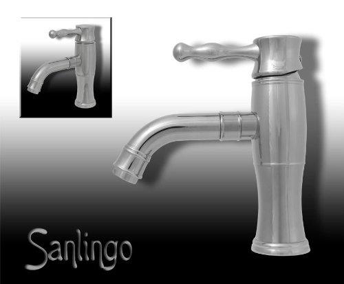 Preisvergleich Produktbild Retro Einhebel Badezimmer Bad Armatur Waschbecken Waschtisch Chrom Sanlingo