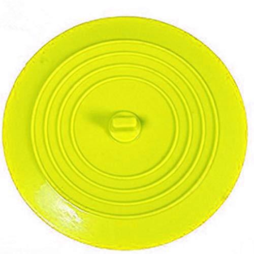 NANAD Abfluss 15 cm flach Abdeckung Universal Spüle Rund Wasserstopper Auslaufsicher Waschbecken Küche Badewanne Dusche Haarfänger Silikon Zubehör, gelb, Free Size (Waschbecken Gelb)
