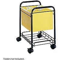 Safco®–Lettera/Legal file Cart, 17–1/4X 13d X 21–1/4H, Nero–Venduti Come 1ogni–Telaio in acciaio tubolare con cavo (Birch Cabinet Office)