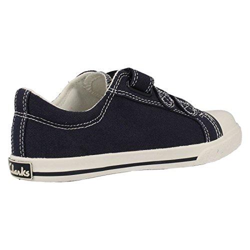 Clarks Halcy Sky Jungen Kleinkinder Leinwand, Schuhe Blau