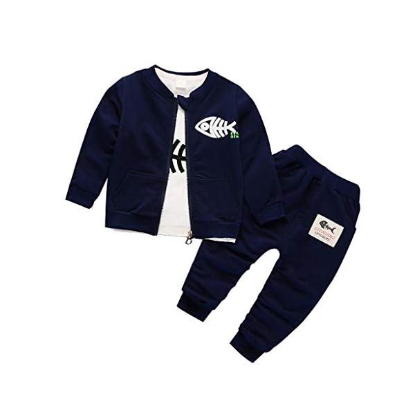 1-5 Años,SO-buts Infantil Niñito Bebé Niño Otoño Invierno Casual Dibujos Animados Sudadera Deportiva Camiseta Abrigo… 1