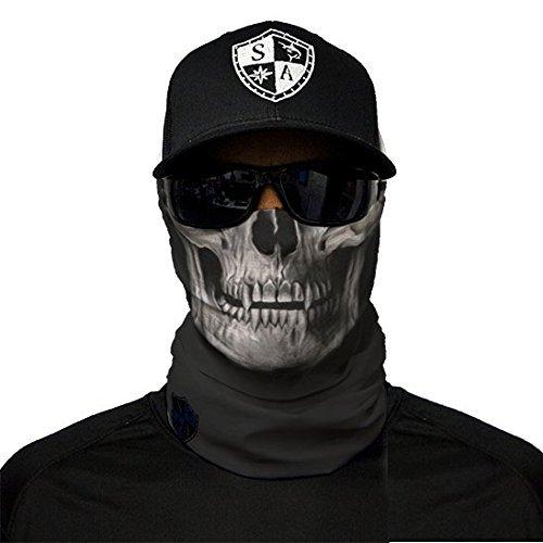 SA Fishing Company Face Shield Sturmhaube viele verschiedene Designs Multiunktionstuch Maske Fishing Totenkopf Schal Skull Bandana Gesichtsmaske Halstuch Ski Motorrad Paintball (Black Skull)