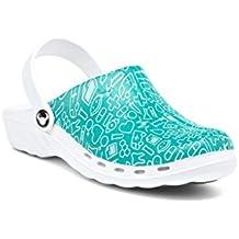 Calzado zueco profesional modelo Oden Syster, diseño con motivos sanitarios 40