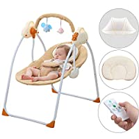 SANPLO Baby Swing Chair Electric Cradle Automatic Bassinet Baby Basket Bed Newborn Crib Rocking Music Sleeping