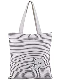 Shoppertize Latest Multipurpose Tote Bag, Designer Tote Bag, Tote Bag For College Girls- Kitty