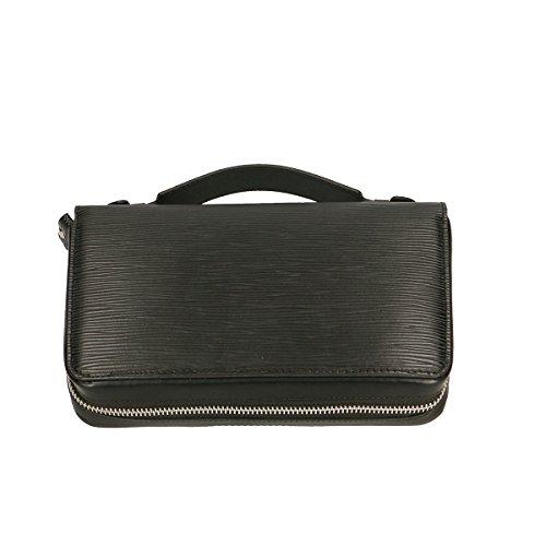 Chicca Borse Portafogli in pelle 22x13x5 100% Genuine Leather Nero