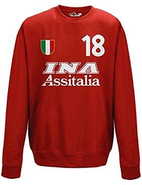 Felpa Girocollo Calcio Vintage Gabriel Roma 18 Batistuta Stagione 00-01 Leggende