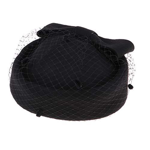 IPOTCH Dame Baseknmütze Eleganz Kopfbedeckung Mütze Fascinator Pillbox Hut Derby Hat Cocktail Ball Hochzeit Kirche Tee Party - ()