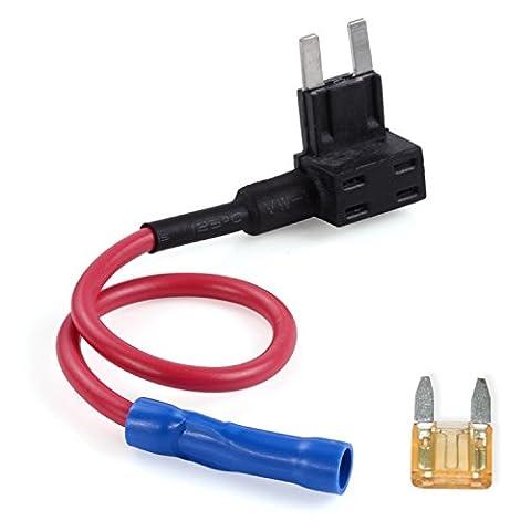 AUTO-VOX Autostromkreis Sicherungshalter - Standard 5 AMP - Unterstützung Anschluss