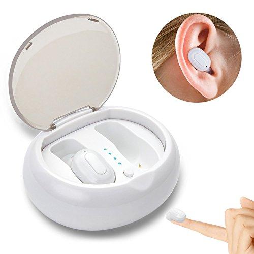 DryMartine Auricolare Bluetooth senza fili, V4.2 Mini Cuffie wireless bluetooth con Microfono Incorporato e Base di Ricarica per iPhone 8, 7 Plus, Samsung, iPad, Dispositivi Android
