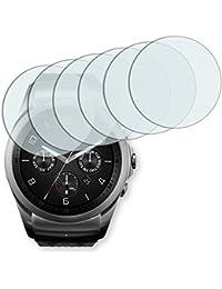 6x Golebo Semi-Matt protectores de pantalla para LG Watch Urbane 2nd Edition - (efecto antirreflectante, montaje muy fácil, removible sin residuos)