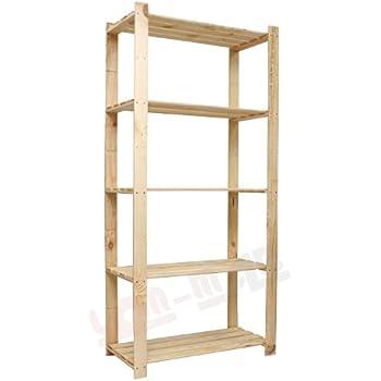 holzregal b 24 5 b den 170x80x40 cm aus 17 mm holz b cherregal massivholzregal kellerregal. Black Bedroom Furniture Sets. Home Design Ideas