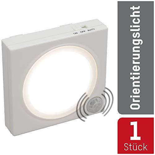 ANSMANN LED Nachtlicht mit Bewegungsmelder innen - LED Leuchte batteriebetrieben & stromsparend - Orientierungslicht mit Lichtsensor - Wandlampe Schranklicht Treppenbeleuchtung Schlafzimmer & Küche