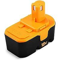 Eagglew 18V 3.0Ah Repuesto Batería para Ryobi P100 ABP1801 ABP1803 BCP1817/2SM BPP-1813 BPP-1815 BPP-1817 BPP-1817/2 BPP-1817M BPP-1820 NI-MH