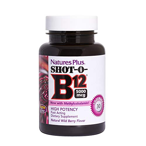 Natures Plus SHOT-O-B12 5000 mcg Lozenges- Wild Berry Flavour , 30 lozenges - Natures Plus Shot