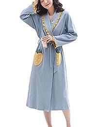 19b8d34e3 Amazon.es  bata de casa - Azul   Batas y kimonos   Ropa de dormir  Ropa
