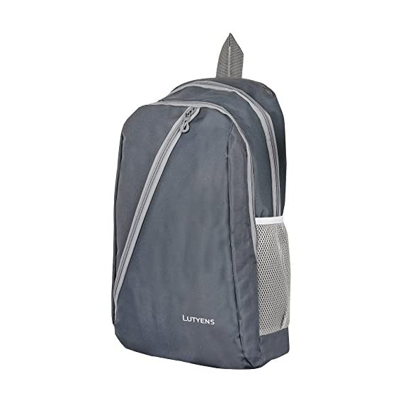 Lutyens 21 L Grey Polyester Mini Backpack