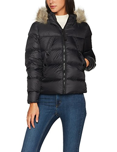 G-STAR RAW Damen Jacke Whistler Hdd Down Fur Jkt Schwarz (Black 990)